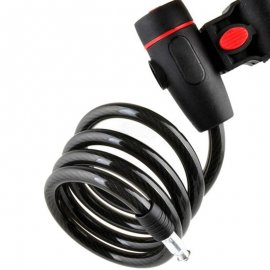 Bicycle cable lock, stainless steel, 2 keys / FREE shipping!