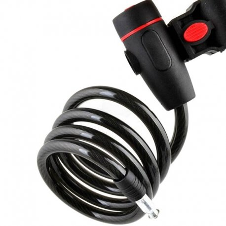 Bicycle lock, cable, 2 keys