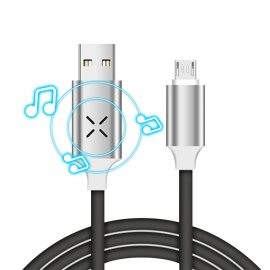 LED music responsive cable for Micro USB / USB-C / iPhone, charging / data, universal / FREE Shipping!