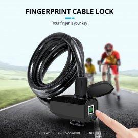 USB fingerprint lock, 0.5 s, IP65 waterproof, steel, for up to 10 fingerprints / FREE shipping!