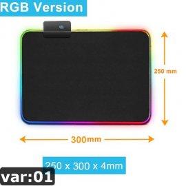 Herná RGB podložka pod myš / Poštovné ZADARMO!