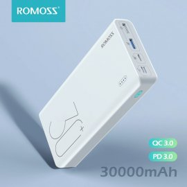 PowerBank ROMOSS Sense 8+, 30000mAh, QC 3.0 pre USB-C, MicroUSB, iOS / Poštovné ZADARMO!