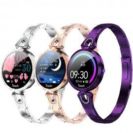 Dámské chytré hodinky LEMFO AK15, IP67, fitness, srdeční tep, monitor spánku, notifikace, krokoměr, BT pro Android a iOS