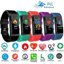 Chytrý náramek 115 Plus, IP65, kalorie, kroky, srdeční tep, spánek, fitness /Poštovné ZDARMA!