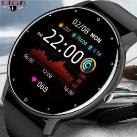 Chytré hodinky Lige 2021, vodotesné IP67, srdcový tep, monitor spánku, notifikácia atď. / Poštovné ZADARMO