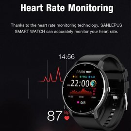Chytré hodinky LIGE 2021, vodotěsné IP67, srdeční tep, monitor spánku, notifikace atd. /Poštovné ZDARMA!