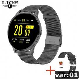 Dámské chytré hodinky LIGE, vodotěsné IP67, srdeční tep, monitor spánku, notifikace atd. /Poštovné ZDARMA!