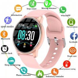 Dámské chytré hodinky, ip67 vodotěsné, srdeční tep, počasí, monitor spánku, fitness, notifikace atd. /Poštovné ZDARMA!