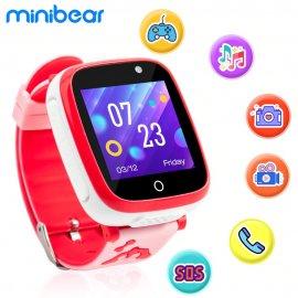 Minibear detské chytré hodinky telefónom, hrami, kamerou, SOS, alarm atď. / Poštovné ZADARMO!