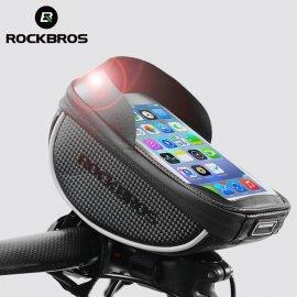 """Voděodolné pouzdro na jízdní kolo ROCKBROS, kapsička na telefon až do 6"""", uchycení na řidítka /Poštovné ZDARMA!"""