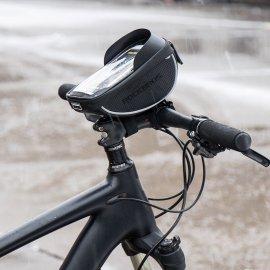 """Pouzdro na jízdní kolo ROCKBROS, voděodolné, kapsička na telefon až do 5.5"""", výstup na sluchátka, uchycení na rám"""