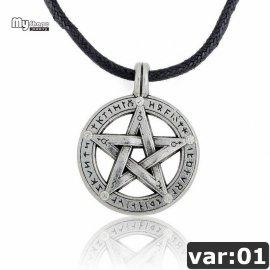 Náhrdelník Pentagram, talisman, starodávný ochranný symbol
