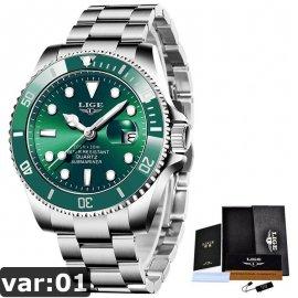 Luxusné pánske hodinky Lige, nerez oceľ, 30ATM / Poštovné ZADARMO!