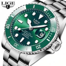 Luxusní pánské hodinky LIGE, nerez ocel, 30ATM, HD Luminous /Poštovné ZDARMA!