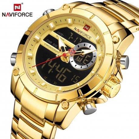 NAVIFORCE Pánské hodinky, duální displej, Quartz, nerez ocel /Poštovné ZDARMA!