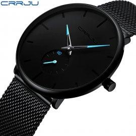 Luxusní pánské hodinky Crrju, nerez ocel, vodotěsné, slim provedení /Poštovné ZDARMA!