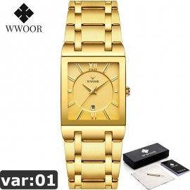 Luxusné pánske hodinky WWOOR, nerez oceľ, vodotesné 3ATM / Poštovné ZADARMO!