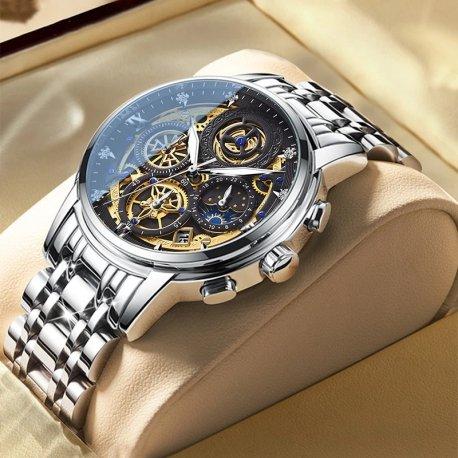 Luxusné pánske hodinky z nerez ocele, vodeodolné 3ATM / Poštovné ZADARMO!