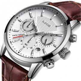 Pánske hodinky Lige 2021 z nerez ocele, v tme svietiace ciferník, vodeodolné 3ATM / Poštovné ZADARMO!