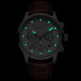 Pánské hodinky LIGE 2021 z nerez oceli, ve tmě svítící ciferník, voděodolné 3ATM /Poštovné ZDARMA!