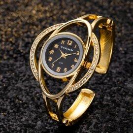 Luxusné náramkové hodinky s kryštálmi, nerez oceľ, kremenné / Poštovné ZADARMO!