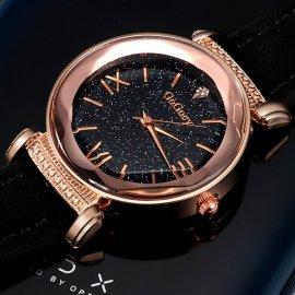 Luxusní dámské Hodinky Gogoey Starry Sky, kožený řemínek, quartz /Poštovné ZDARMA!