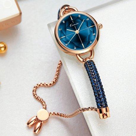 Nádherné Luxusní dámské hodinky KIMIO s krystaly /Poštovné ZDARMA!