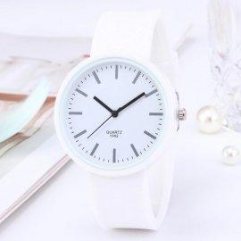 Jednoduché hodinky, silikonový řemínek, quartz /Poštovné ZDARMA!