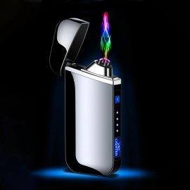 Luxusní elektronický zapalovač - kovový - větruodolný - USB nabíjení - indikace stavu baterie /Poštovné ZDARMA!