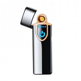 Luxusný elektronický zapaľovač - kovový - vetruodolný - USB nabíjanie - indikácia stavu batérie / Poštovné ZADARMO!