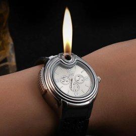 Štýlové pánske hodinky so zapaľovačom, naplniteľné / Poštovné ZADARMO!