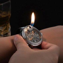 Stylové pánské hodinky se zapalovačem, plnitelné /Poštovné ZDARMA!