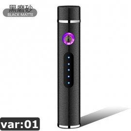 Kovový Mini Plazmový zapaľovač - vetruodolný - USB nabíjanie - indikácia stavu batérie / Poštovné ZADARMO!