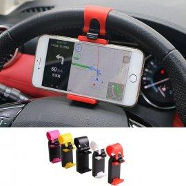 Univerzální držák telefonu do auta, uchycení na volant, 55-75 mm /Poštovné ZDARMA!