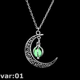 """Nádherný ve tmě svítící náhrdelník """"Moon"""", přívěsek s řetízkem /Poštovné ZDARMA!"""