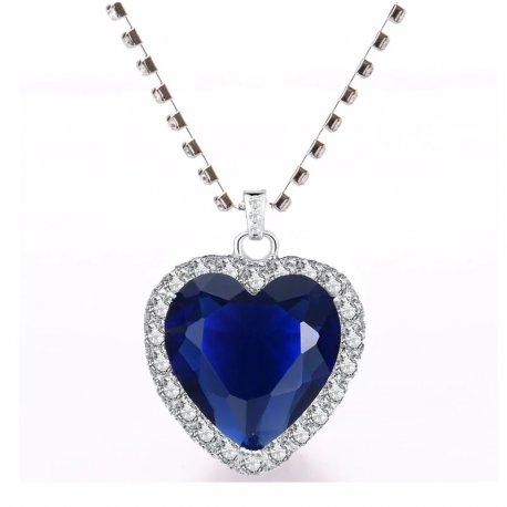 Náhrdelník Srdce / INFIERA Stylish Heart-shaped Pendant Slender Necklace Jewelry