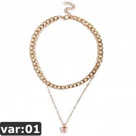 Zlatý vícedílný náhrdelník - 16 variant /Poštovné ZDARMA!