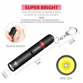 Mini LED svietidlo s karabínkou, vodotesná IP67, aluminium / Poštovné ZADARMO!