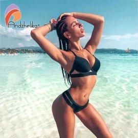 Sexy dámské dvoudílné plavky Andzhelika Bikinis 2021 Push Up /Poštovné ZDARMA!