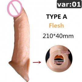 Predlžovací návlek na penis z príjemného materiálu / Poštovné ZADARMO!