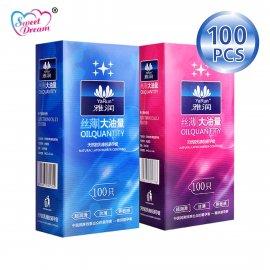 Balíček 100KS kondomů, přírodní jemný latex, lublikované prezervativy /Poštovné ZDARMA!