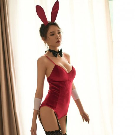 Sexy kostým králiček / Seductive Rabbit Style Uniform Adult Costume Night Club Wear for Party Stage Performance