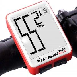 West Biking Bezdrôtový Cyklocomputer, tachometer, podsvietené LCD, vodeodolný / Poštovné ZADARMO!