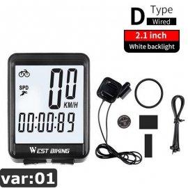 "Cyklopočítač, tachometer, 2.8"" LCD dotyková obrazovka, bezdrôtový, vodeodolný"
