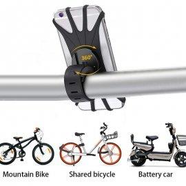 Držiak telefónu na bicykel, vodeodolný, nastaviteľný, univerzálna
