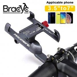 """Univerzální držák telefonu na kolo / skutr / moto, otočný 360 stupňů, rozsah 3,5"""" - 7"""", aluminium /Poštovné ZDARMA!"""