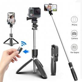 Bezdrôtová BT Selfie tyč pre Gopro / mobily / kamery, statív, teleskopická 19-99cm / Poštovné ZADARMO!