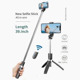 Bezdrátová BT Selfie tyč pro Gopro, mobily, stojánek, teleskopická /Poštovné ZDARMA!