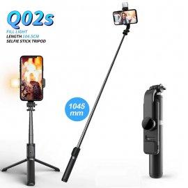 Bezdrôtová BT Selfie tyč pre Gopro / mobily / kamery, LED světlo, statív, teleskopická 19-105cm / Poštovné ZADARMO!