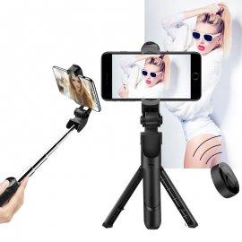 Selfie tyč, teleskopická, stavitelná 15-50cm, tlačítko, univerzální